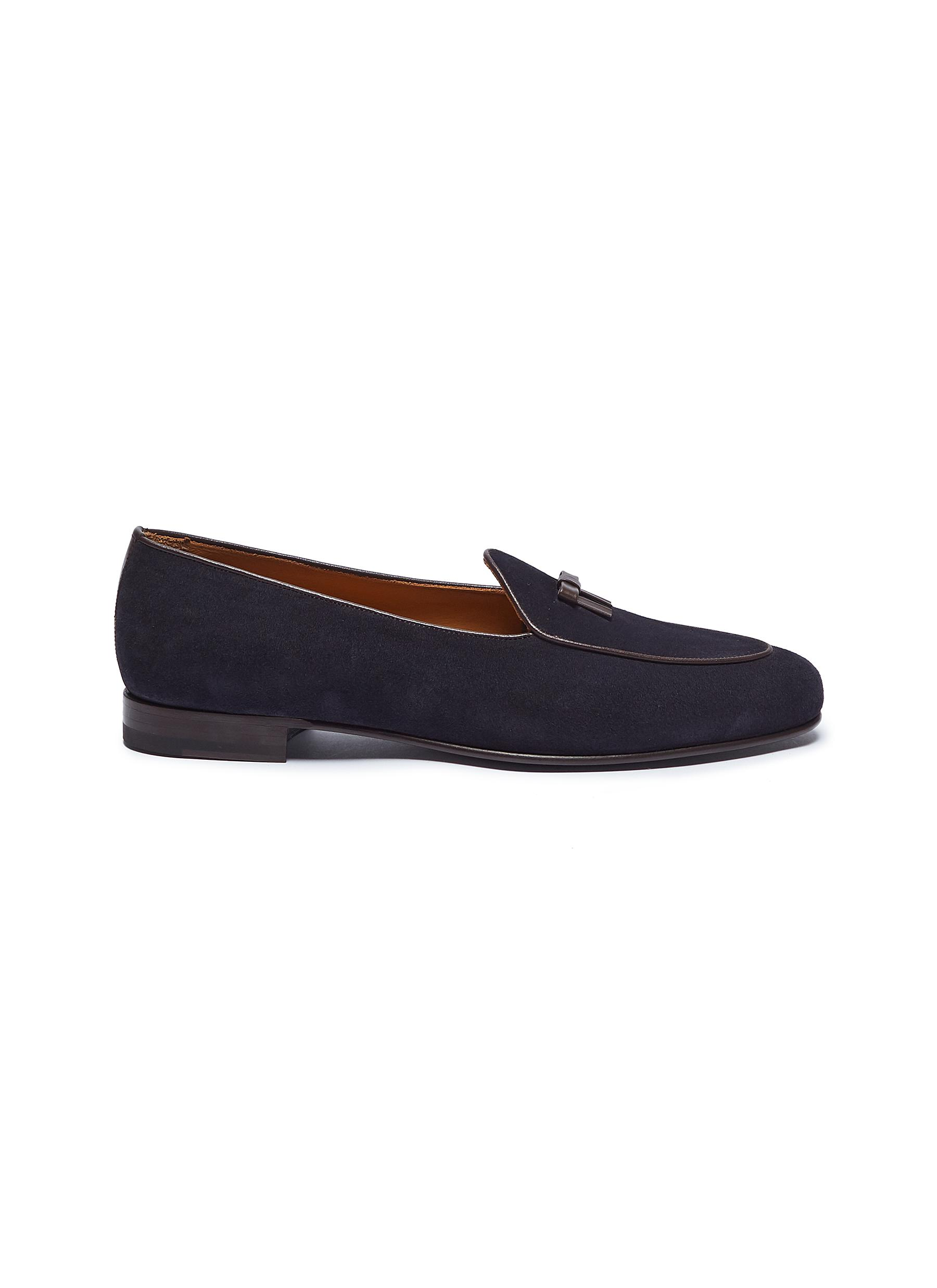 Henry bow suede loafers by Bow-Tie