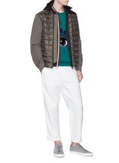 Moncler Stripe placket zip hoodie