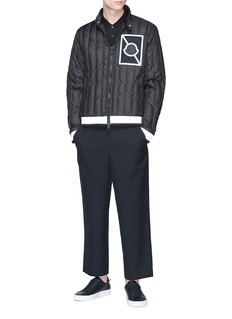 Moncler x Craig Green 'Altman' reflective stripe down puffer jacket
