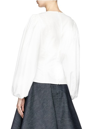 Back View - Click To Enlarge - CALVIN KLEIN 205W39NYC - Puff sleeve shirt