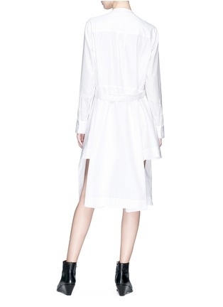 Figure View - Click To Enlarge - CALVIN KLEIN 205W39NYC - Asymmetric hem stripe shirt dress