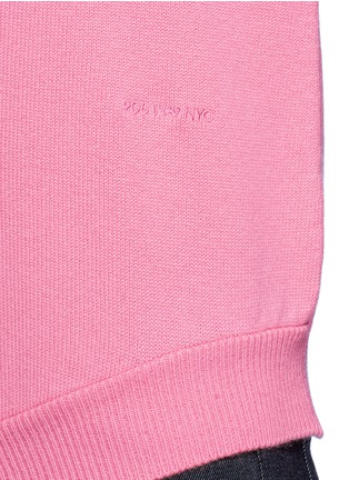Detail View - Click To Enlarge - CALVIN KLEIN 205W39NYC - Cutout hem cashmere sweater