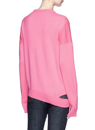 Back View - Click To Enlarge - CALVIN KLEIN 205W39NYC - Cutout hem cashmere sweater