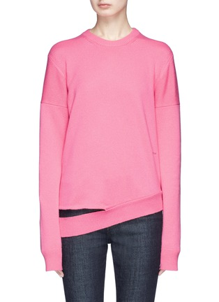 Main View - Click To Enlarge - CALVIN KLEIN 205W39NYC - Cutout hem cashmere sweater