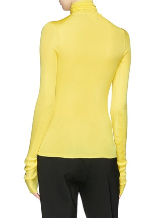 Back View - Click To Enlarge - CALVIN KLEIN 205W39NYC - Silk rib knit turtleneck sweater