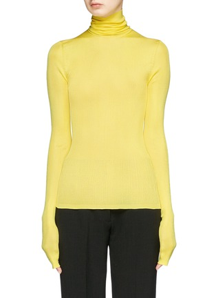 Main View - Click To Enlarge - CALVIN KLEIN 205W39NYC - Silk rib knit turtleneck sweater