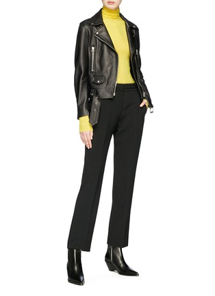 Figure View - Click To Enlarge - CALVIN KLEIN 205W39NYC - Silk rib knit turtleneck sweater