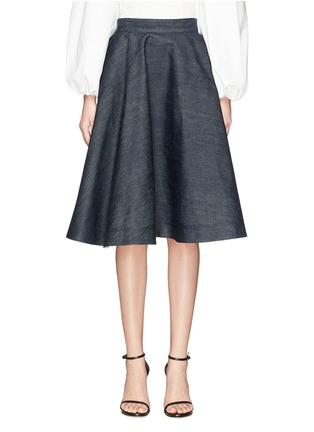 Main View - Click To Enlarge - CALVIN KLEIN 205W39NYC - Flared denim skirt