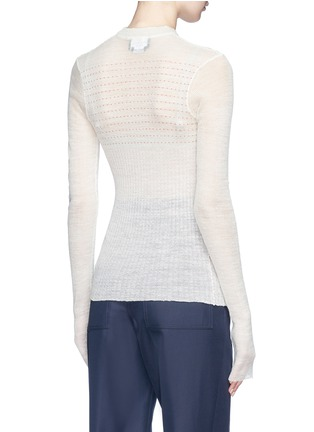Back View - Click To Enlarge - CALVIN KLEIN 205W39NYC - Stripe wool blend sweater