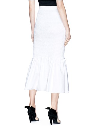 Back View - Click To Enlarge - CALVIN KLEIN 205W39NYC - Smocked pencil skirt