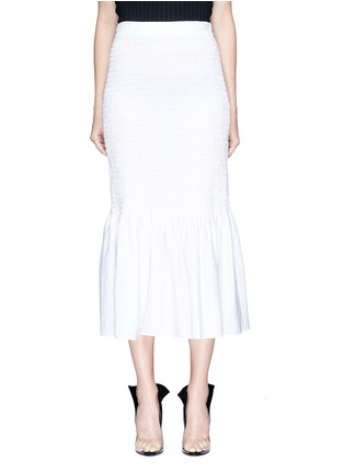Main View - Click To Enlarge - CALVIN KLEIN 205W39NYC - Smocked pencil skirt
