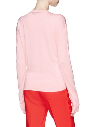 Back View - Click To Enlarge - CALVIN KLEIN 205W39NYC - Silk sweater