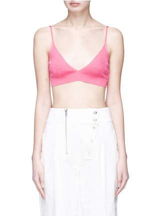 Main View - Click To Enlarge - CALVIN KLEIN 205W39NYC - Silk rib knit bra top