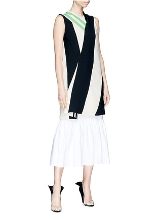 Figure View - Click To Enlarge - CALVIN KLEIN 205W39NYC - Shoulder strap stripe twill dress