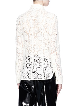 Back View - Click To Enlarge - CALVIN KLEIN 205W39NYC - Guipure lace policeman shirt