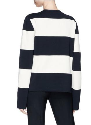 Back View - Click To Enlarge - CALVIN KLEIN 205W39NYC - Asymmetric stripe sweater
