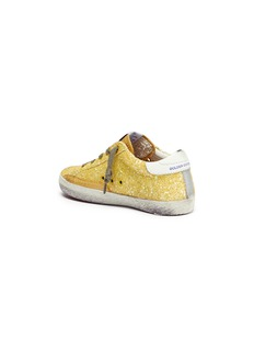 Golden Goose 'Superstar' glitter coated leather toddler sneakers