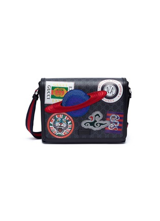 df05148ca ... canvas messenger bag. Main View - Click To Enlarge - GUCCI - 'Night  Courrier' appliqué GG Supreme