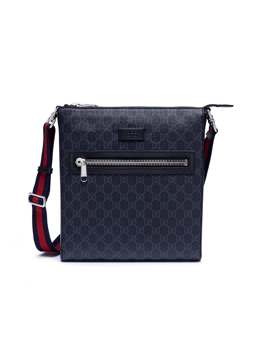 6f03163798a4bd GUCCI | GG Supreme canvas messenger bag | Men | Lane Crawford