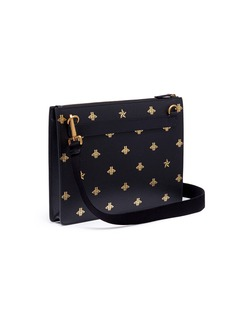 Gucci Bee star print leather messenger bag