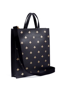 Gucci 'Bee Star' print leather tote