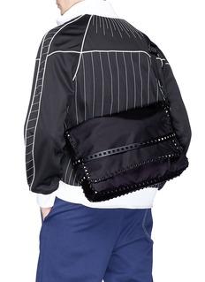 Valentino Rockstud twill messenger bag