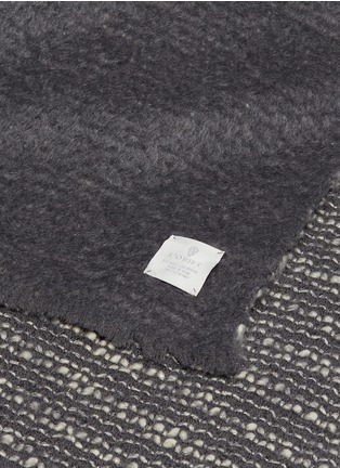 Detail View - Click To Enlarge - L'OBJET - Seville throw –Grey