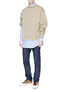 Acne Studios 'Flogho' logo jacquard collar sweatshirt