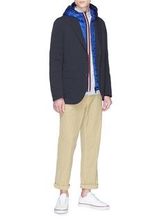 Moncler 'Morvan' stripe placket hooded down puffer jacket