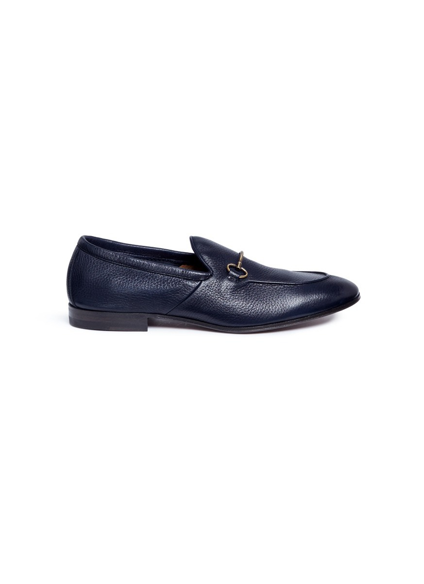 Horsebit deerskin leather loafers by Henderson