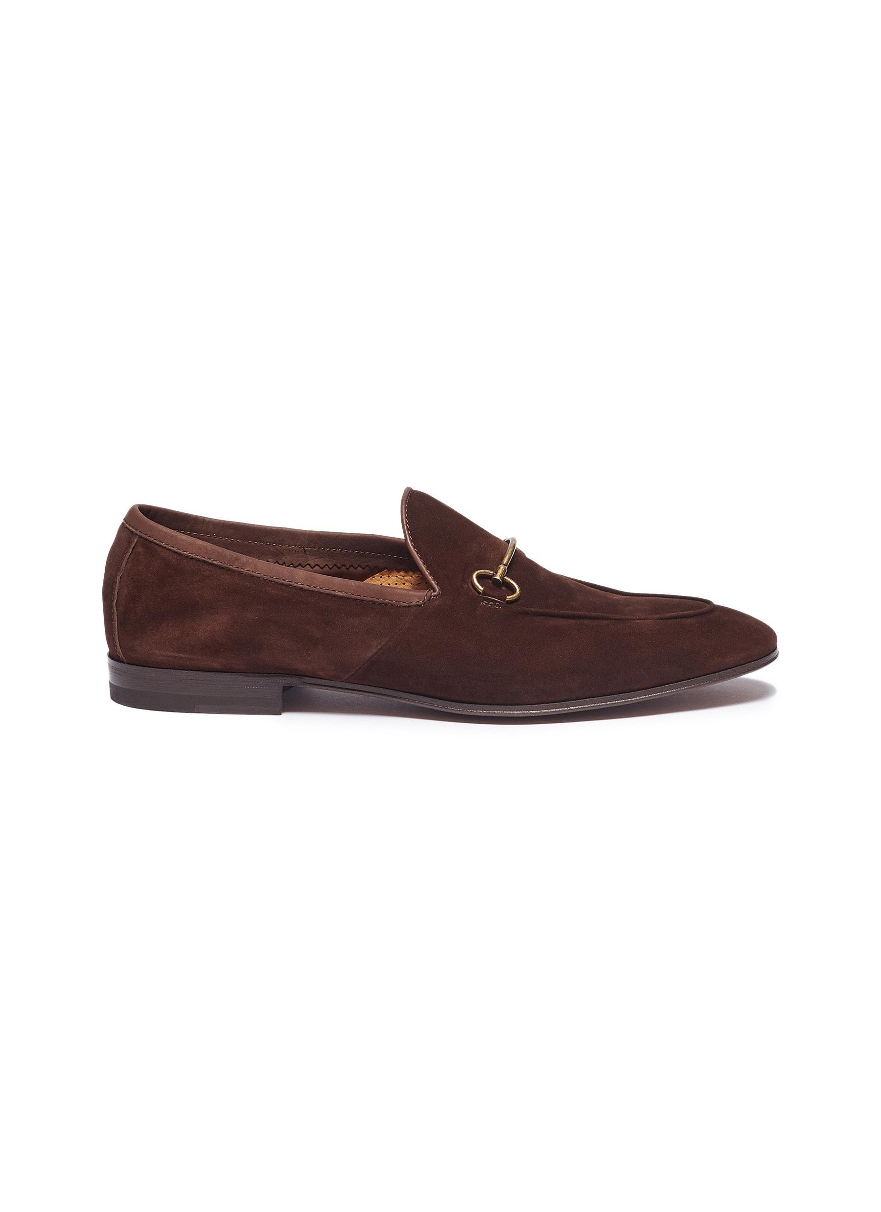 Horsebit suede loafers by Henderson