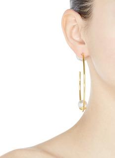 Joomi Lim Swarovski pearl large hoop earrings