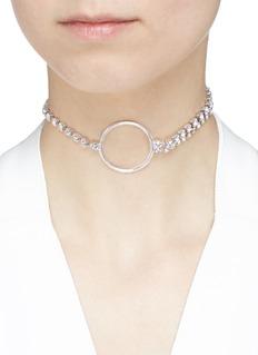 Joomi Lim 'Mad Maximalism' hoop pendant Swarovski crystal choker necklace