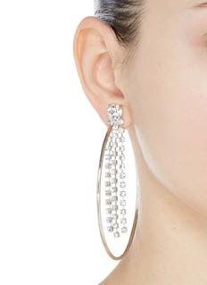 Joomi Lim 'Mad Maximalism' Swarovski crystal fringe large hoop earrings