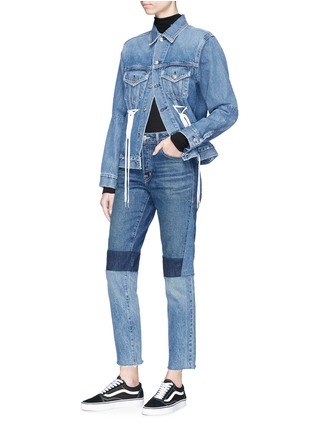 Figure View - Click To Enlarge - Proenza Schouler - PSWL drawstring denim jacket