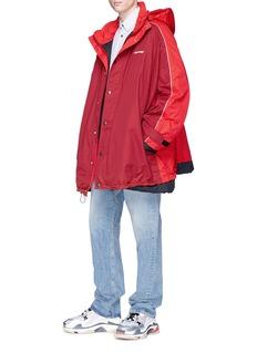 Balenciaga Retractable hood oversized padded coat