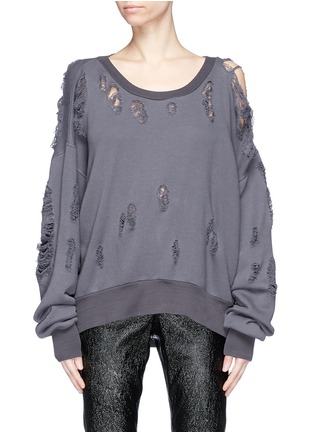 Main View - Click To Enlarge - Ben Taverniti Unravel Project  - Distressed sweatshirt