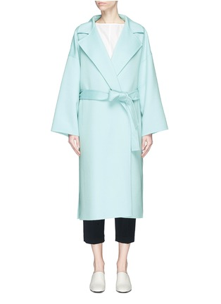 Main View - Click To Enlarge - KUHO - 'Bastro' belted wool blend melton coat