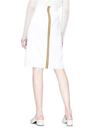 Back View - Click To Enlarge - KUHO - 'Haoni' stripe back ruched drawstring paperbag skirt