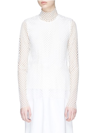 Main View - Click To Enlarge - KUHO - Mesh turtleneck top