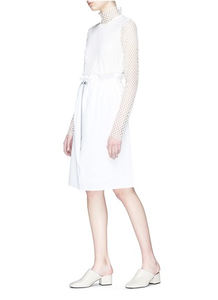 Figure View - Click To Enlarge - KUHO - Mesh turtleneck top