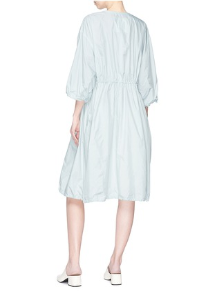Back View - Click To Enlarge - KUHO - 'Richter' gathered waist windbreaker dress coat