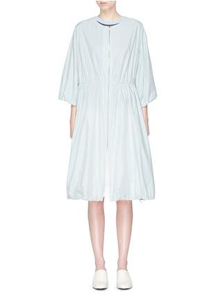 Main View - Click To Enlarge - KUHO - 'Richter' gathered waist windbreaker dress coat