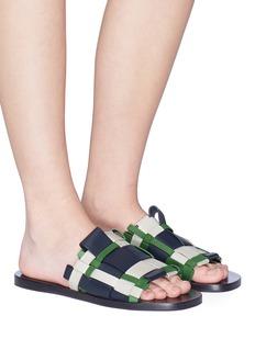 Mercedes Castillo 'Niala' woven leather slide sandals