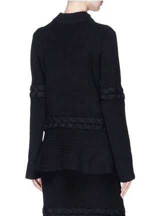 Back View - Click To Enlarge - Sacai - Braided rib knit sweater