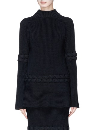 Main View - Click To Enlarge - Sacai - Braided rib knit sweater