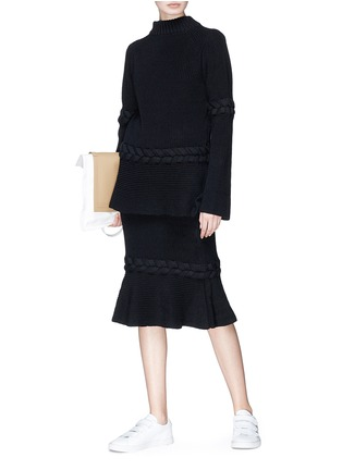 Figure View - Click To Enlarge - Sacai - Braided rib knit sweater