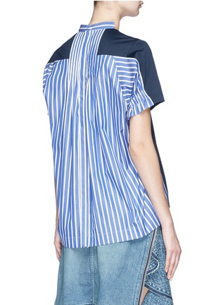 Back View - Click To Enlarge - Sacai - Stripe back T-shirt