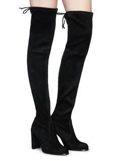 Stuart Weitzman 'Hi Line' stretch suede thigh high boots