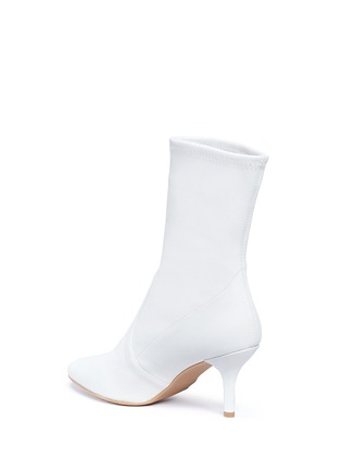 Detail View - Click To Enlarge - Stuart Weitzman - 'Cling' stretch leather ankle boots